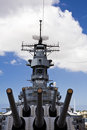 Guns of the USS Missouri Royalty Free Stock Photos