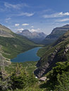 Gunsight Lake and Mountains Stock Image