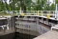 Gunthorpe lock gates down stream on the river trent nottinghamshire Stock Images