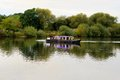 Gunthorpe star all aboard the party barge the in nottinghamshire is available for party hire on the river trent Royalty Free Stock Images