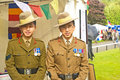Gurkhas raising support for Gurkha Welfare Trust. Royalty Free Stock Photography