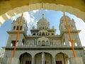 Gurudwara寺庙在普斯赫卡尔,印度 库存图片