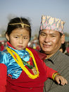 Gurung father and daughter Royalty Free Stock Photos