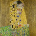 Gustav Klimt, The Kiss, 1908, oil and gold on canvas Royalty Free Stock Photo