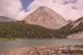 Gusty Peak Landscape Royalty Free Stock Photo