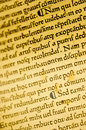 Gutenburg Bible detail Stock Photography