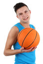 Guy with a basketball Royalty Free Stock Photos