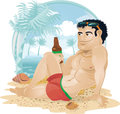 Guy on the Beach Royalty Free Stock Photography