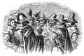 Guy Fawkes and his fellow conspirators Royalty Free Stock Photo