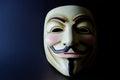 Guy Fawkes Mask Split Lighting Royalty Free Stock Photo