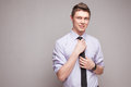 Guy in formal wear portrait of cheerful young man Royalty Free Stock Images