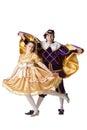 Guy and girl dressup as Prince and Princess Stock Photos
