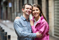 Guy and girl loving each other Royalty Free Stock Photo