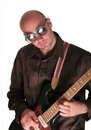 Guy play guitar solo Stock Photo
