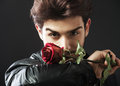 Guy with a red rose