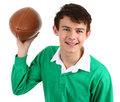 Guy with rugby ball Stock Photography