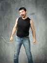 Guy screaming and madness Royalty Free Stock Photo
