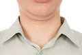 The guy the second chin isolated on white background Stock Image
