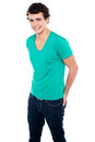 Guy in trendy casual wear posing in style Royalty Free Stock Photo