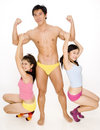 Guy and Two Girls Stock Images