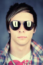 Guy wearing sunglasses Royalty Free Stock Photo
