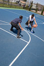 Guys Playing Basketball Royalty Free Stock Photography