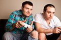 Guys Video Games Serious Royalty Free Stock Photo