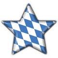 Guzik bavarian flagi kształcie gwiazdy Obraz Stock