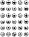 Guziki siwieją ikony sieć Obraz Royalty Free