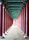 Gyeongbokgung palace ancient hallway at geyongbokgung in seoul south korea Stock Photo