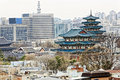 Gyeongbokgung or the palace of felicitous blessing was the mai main joseon dynasty in korea Stock Photography