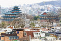Gyeongbokgung or the palace of felicitous blessing was the mai main joseon dynasty in korea Stock Image