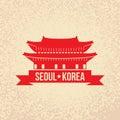 Gyeongbokgung - the symbol of Seoul, Korea. Royalty Free Stock Photo