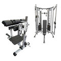Gym apparatus under te white background Stock Image