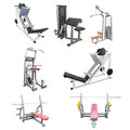 Gym apparatus under te white background Royalty Free Stock Photography