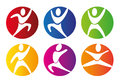 Gym buttons over white background vector illustration Stock Images