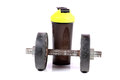 Gym Dumbbell And Shaker
