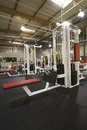 Gym equipment interior view of a with Royalty Free Stock Photography
