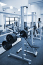 Gym equipment room Royalty Free Stock Photo