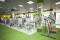 Gym equipment room with in the sport club Stock Photography