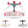 Gym logo workout concept symbol illustration Stock Photo