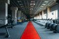 Gym nobody, empty fitness club Royalty Free Stock Photo