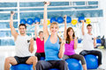 Gym people working out Royalty Free Stock Image