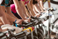 Gym Shot - People Cycling; Spi...