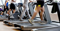 Gym shot - running machines Royalty Free Stock Photo