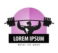Gym vector logo design template bodybuilding or athlete and strength on a white background illustration Stock Photography