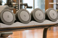 Gym weights detail of space different Royalty Free Stock Photo