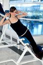 Gym woman exercising Royalty Free Stock Photo