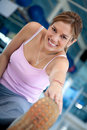 Gym woman stretching Stock Photography