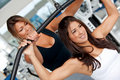 Gym woman and trainer Royalty Free Stock Photos